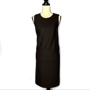 Halston Heritage Charcoal Gray Shift Dress Size 10